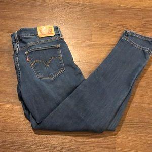 Levi's 711 Skinny Ankle Crop Jean Size 28